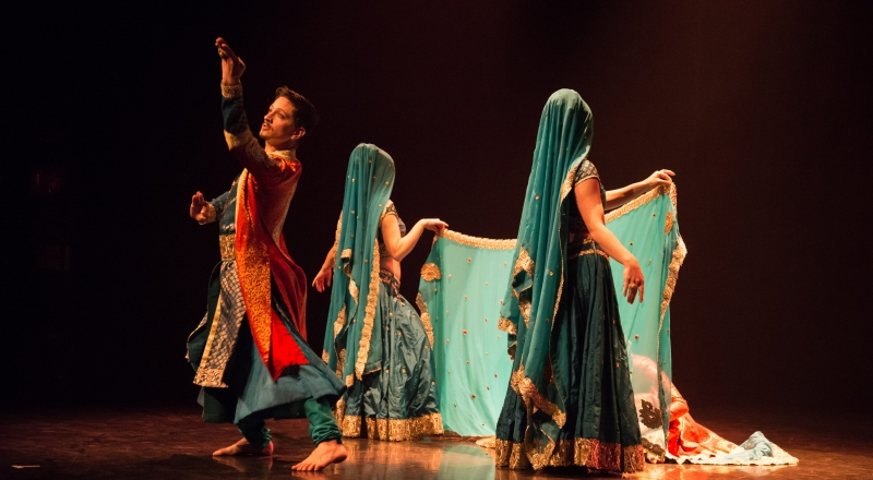 Mughal-E-Azam: First scene of the performance Bombay Express by dance collective Bollylicious
